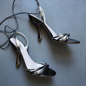 Metallic Silver Hollywood Glam MIU MIU Prada Heels